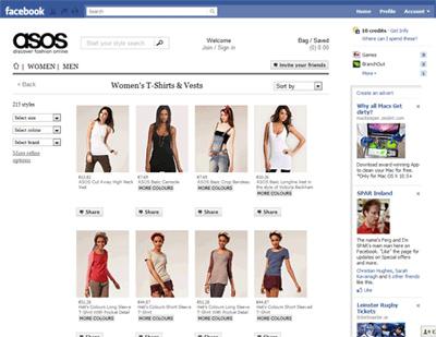 social shopping en facebook