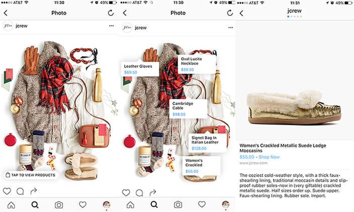 social shopping en instagram