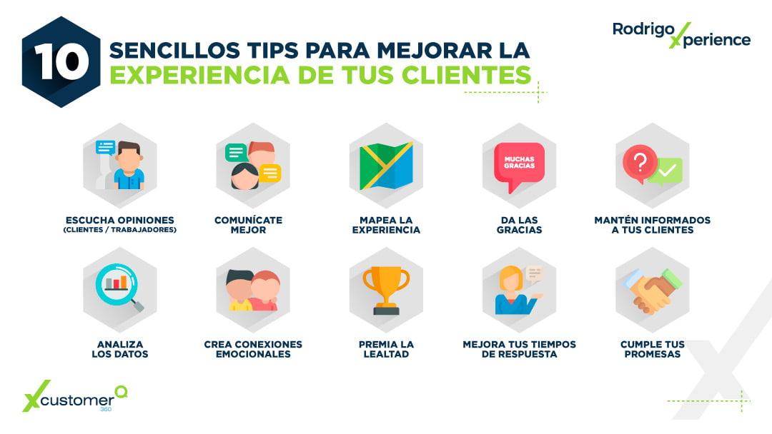 10 tips para mejorar la experiencia de tus clientes