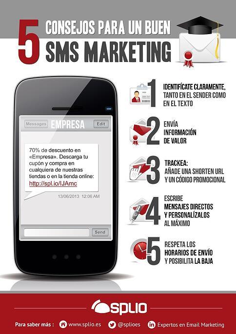 infografia consejos para sms marketing